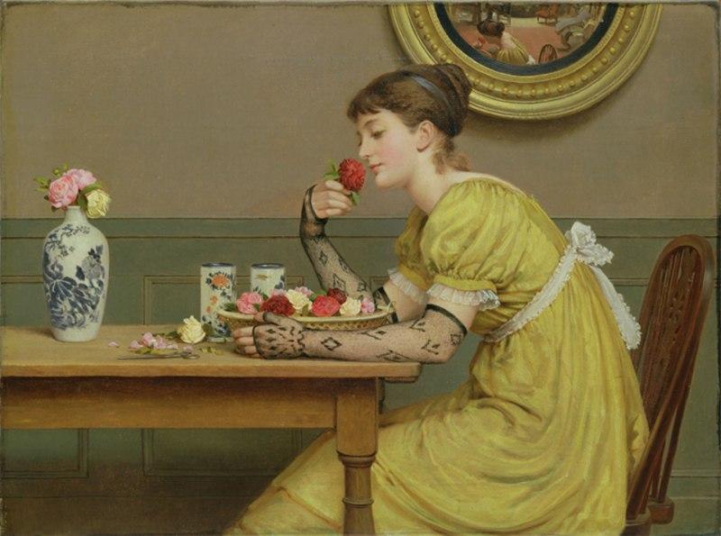 girl-smelling-rose