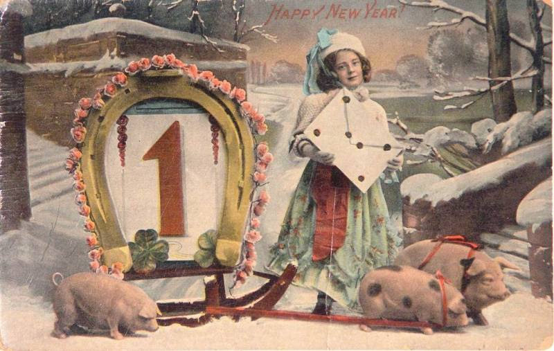 New Year Postcard 1905