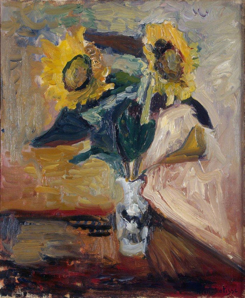 Matisse_-_Vase_of_Sunflowers_(1898)