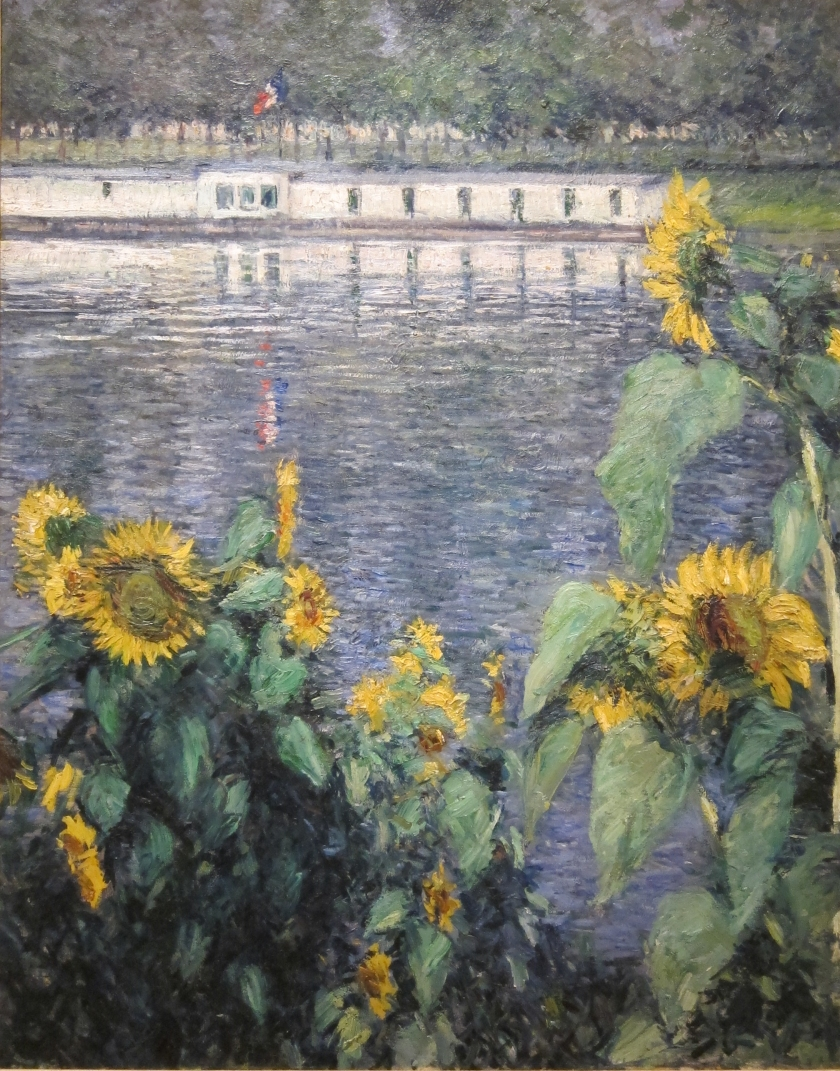 Gustave Caillebotte, Sunflowers along the Seine, ca. 1885-86