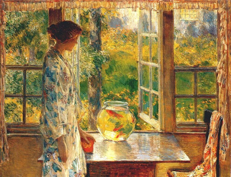 'Bowl_of_Goldfish'_by_Childe_Hassam,_1912