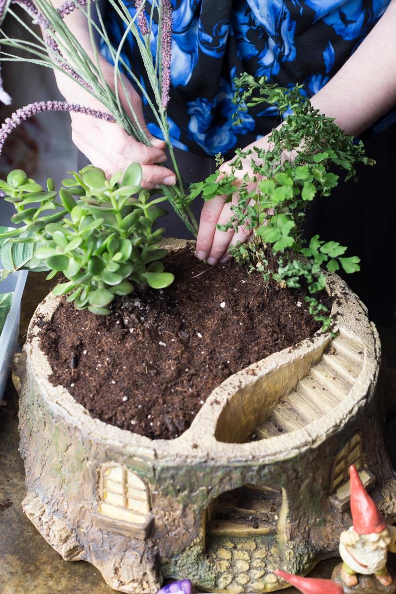 Planting Faux Plants