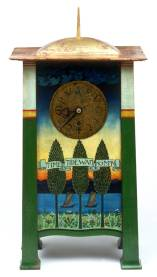 Clock, designed by Charles Francis Annesley Voysey, made by Frederick Coote, 1895 – 1901, England. Museum no. W.5:1, 2-1998. © Victoria and Albert Museum, London