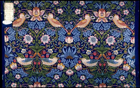 Strawberry Thief, furnishing fabric, designed by William Morris, made by Morris & Co., 1883, England. Museum no. T.586-1919. © Victoria and Albert Museum, London
